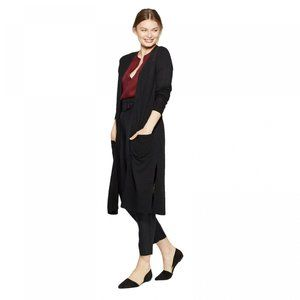 NWT A New Day Duster Cardigan Small Black